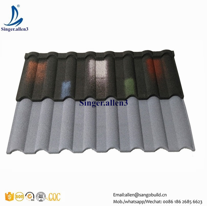cheaper price Stone chip coated colour steel roof/roofing tile for MOROCCO