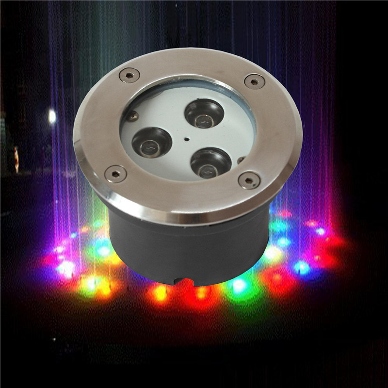 Stainless steel 3pcs 1w rgb IP68 led underwater swimming pool light