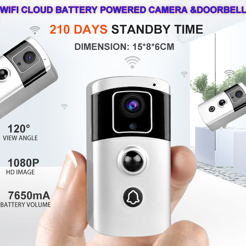 Battery Powered Smart P2P <strong>WiFi</strong> rotating outdoor security camera with iOS and Android APP