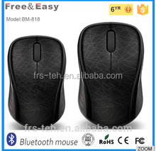 Full black ABS cheap 3key wireless bluetooth mouse