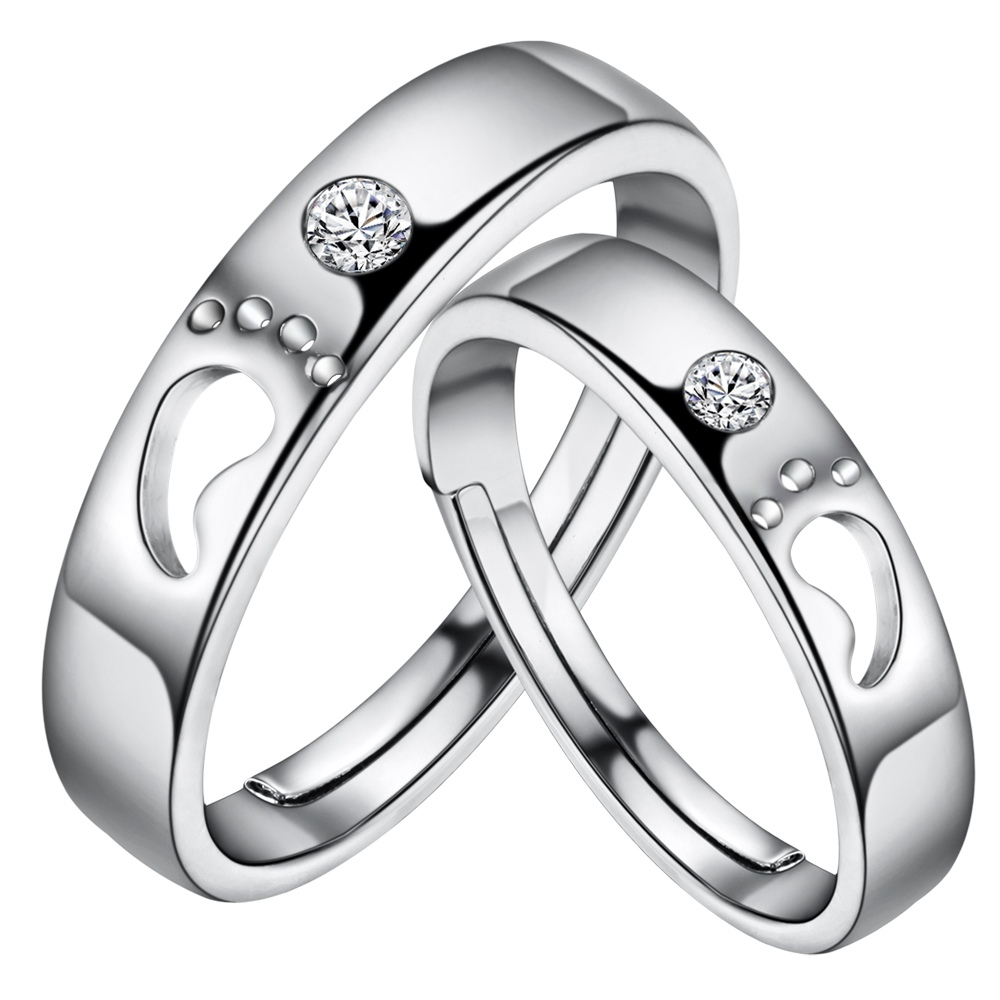 Fashion Couple Rings Hollow Little Feet Design Ring - Buy Little ...