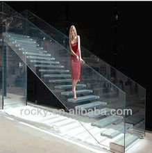 clear laminated/tempered glass railing