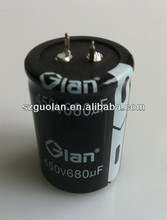 Top quality GLAN Capacitor High frequency high voltage long life 105 C photo flash Capacitor 450V680uF for Beauty Equipment