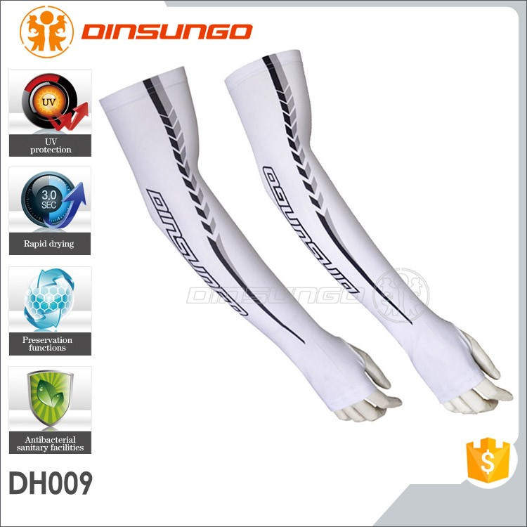 Custom Outdoor Cycling Golf Sports UV Protector Sun block Cool Arm Sleeve dinsungo DH009