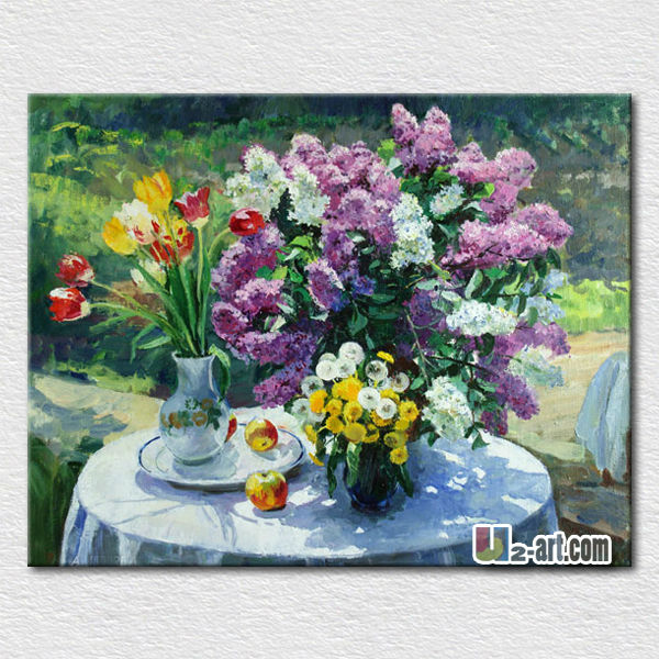 Handpainted canvas picture flower panting picture for living room wall <strong>decoration</strong>