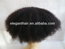 Afro curl human hair toupee for black men