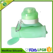 Travel Silicone Water Bottle Flexible,Foldable Silicone Rubber Water Bottle