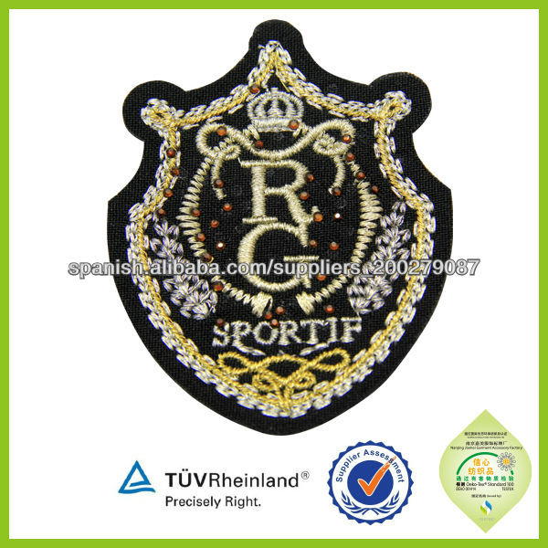 Durable fashion applique Reflective 3d  flower Embroidered Patches