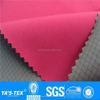 Pink Color Bonded Water Resistant Softshell Fabric TPU Laminated Fabric For Jackets