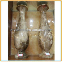 China high quality brown onyx vases