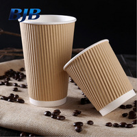 wholesale ripple wall paper cups hot drinking ripple wall paper cups