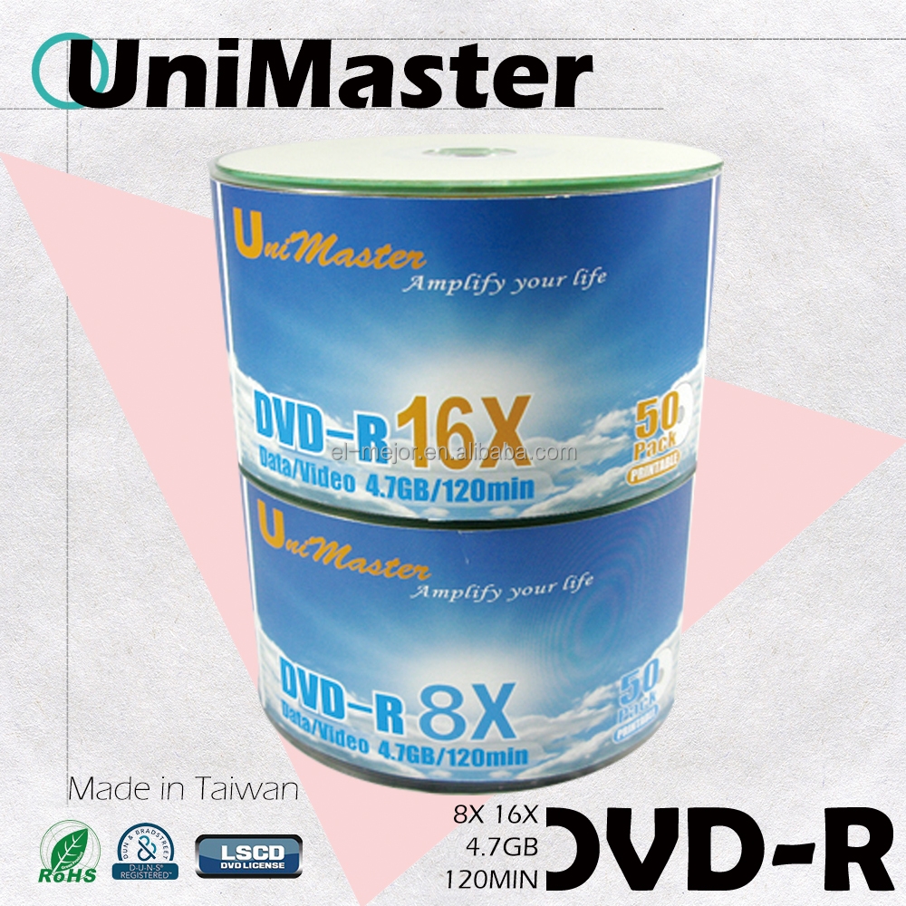 Blank UniMaster DVD-R 4.7GB for dvd movies