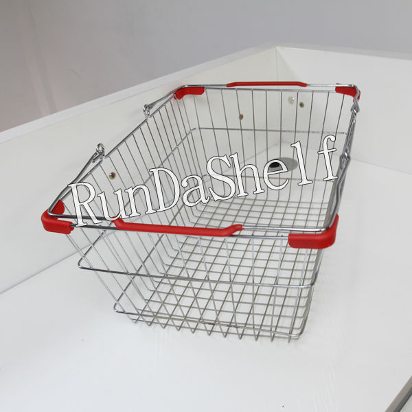 handle basket with aluminum frame