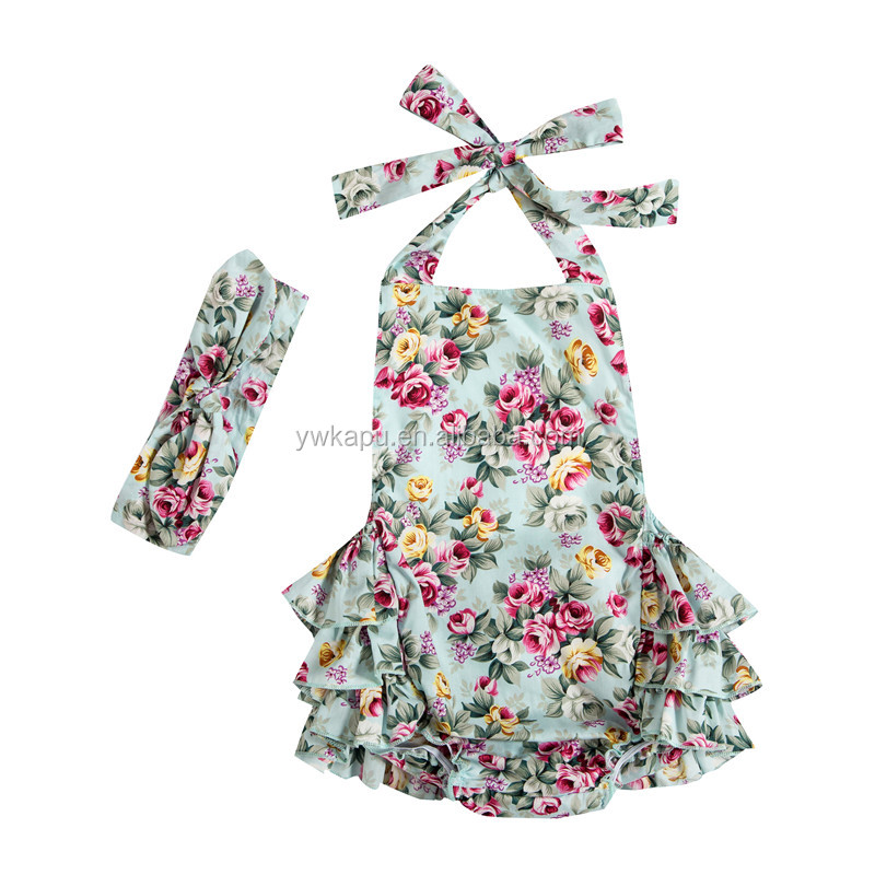 High quality summer organic cotton baby rompers wholesale baby clothes/ new born baby clothes / baby girl bubble romper