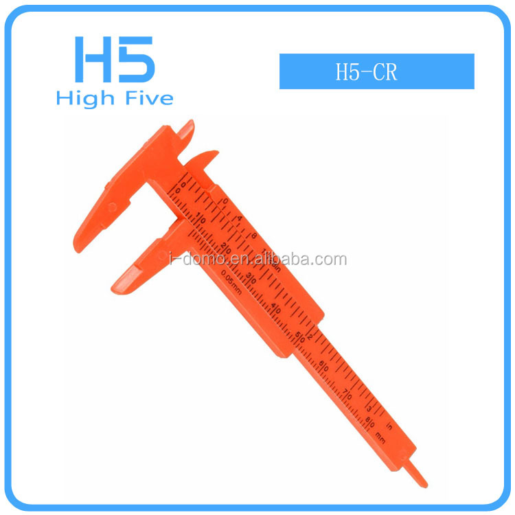 Red Mini Plastic Vernier Caliper Gauge Micrometer 80MM Mini Ruler Accurate Measurement Tools Standard Vernier Caliper