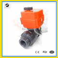 CTF001 DC12V UPVC DN32 Electric motorized ball valve for water leakage detection equipment