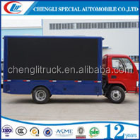 Dongfeng 4*2 95HP mobile led video advertising truck for full color led screen mobile stage roadshow billboard truck