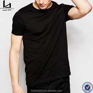 wholesale china clothing manufacturers high quality cotton blank black t shirt