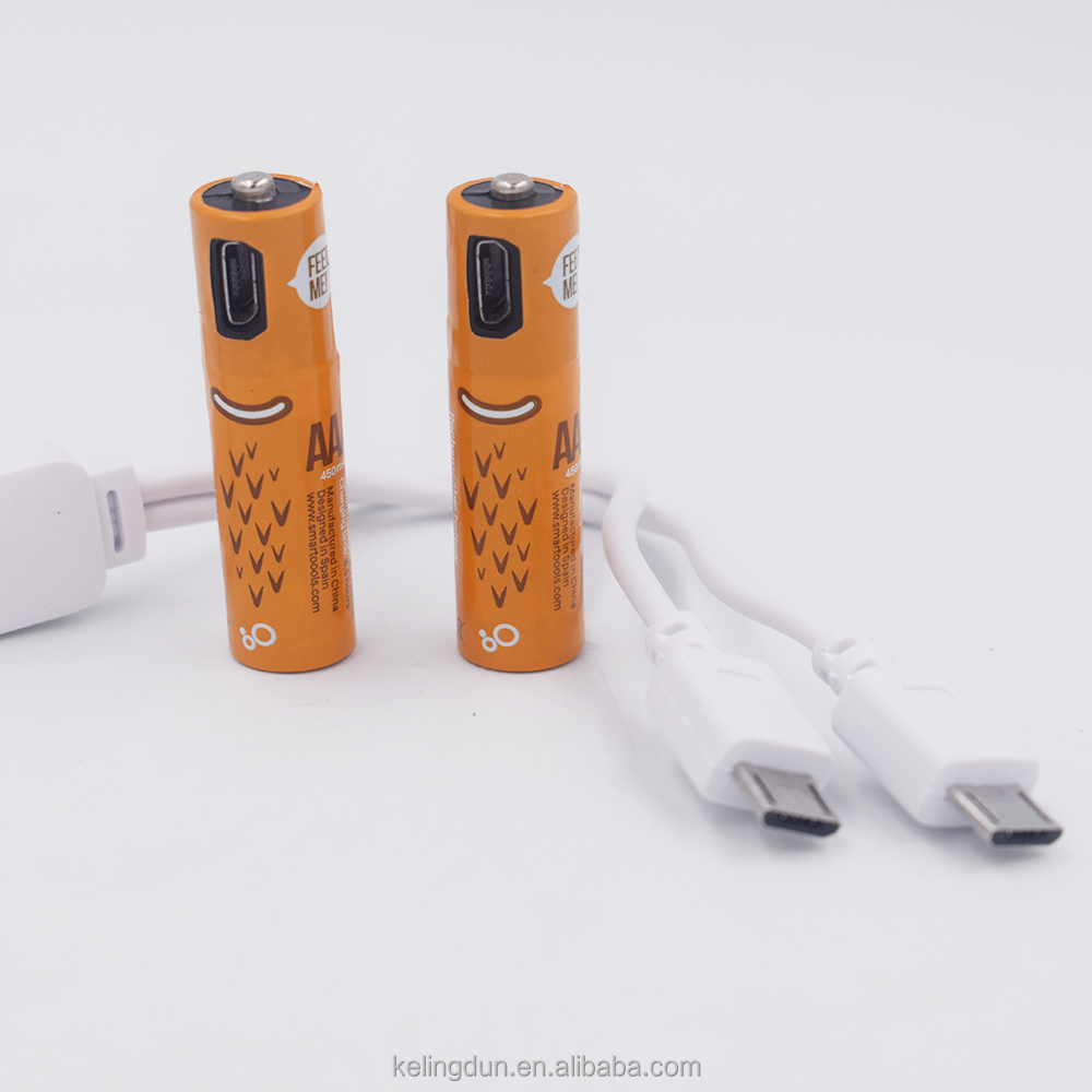 Manufacturers wholesale USB AA AA/AAA7 batteries USB rechargeable nimh battery rechargeable battery