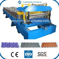 YTSING-YD-00010 Passed CE and ISO Full Automatic Metal Tile Roll Forming Machine, Roof Tile Making Machine