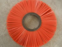 Punched nylon bristle industrial machine roller brush
