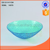 blue color glass bowl tableware colored glass bowl