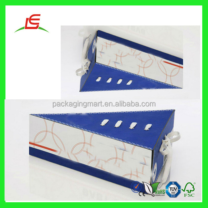 Q520 china wholesale new design shoe box luxury popular for Triangle wholesale printing