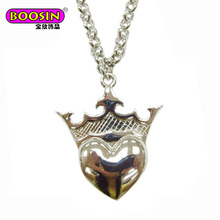 Special design affordable jewelry metallic silver love mask necklace