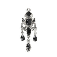 Antique silver plated teardrop chandelier pendant for earrings charms