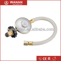 AGA certified wanan brand pressure regulator with hose assembly for Australia market