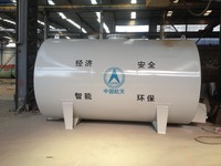 Horizontal square elliptical head fuel storage tank with low price