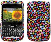 Snap-on PU Garphic Case for BlackBerry Curve 3G 9300 / 9330 / 8520 / 8530