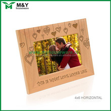 present love photo frame from bamboo
