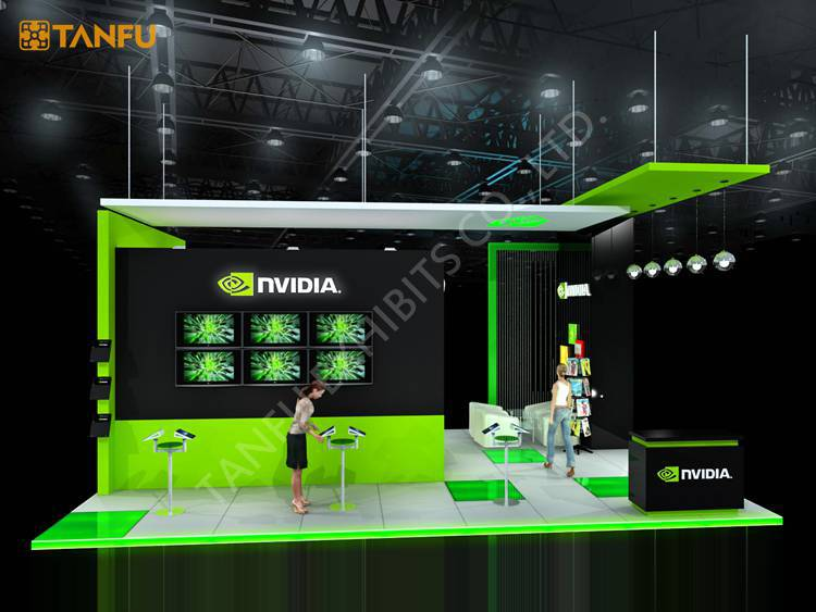 Modern Exhibition Booth Design : Ftx ft trade show booth exhibit display with led light