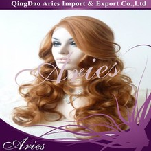 Affordable Long Wavy Lace front Synthetic African American Wigs