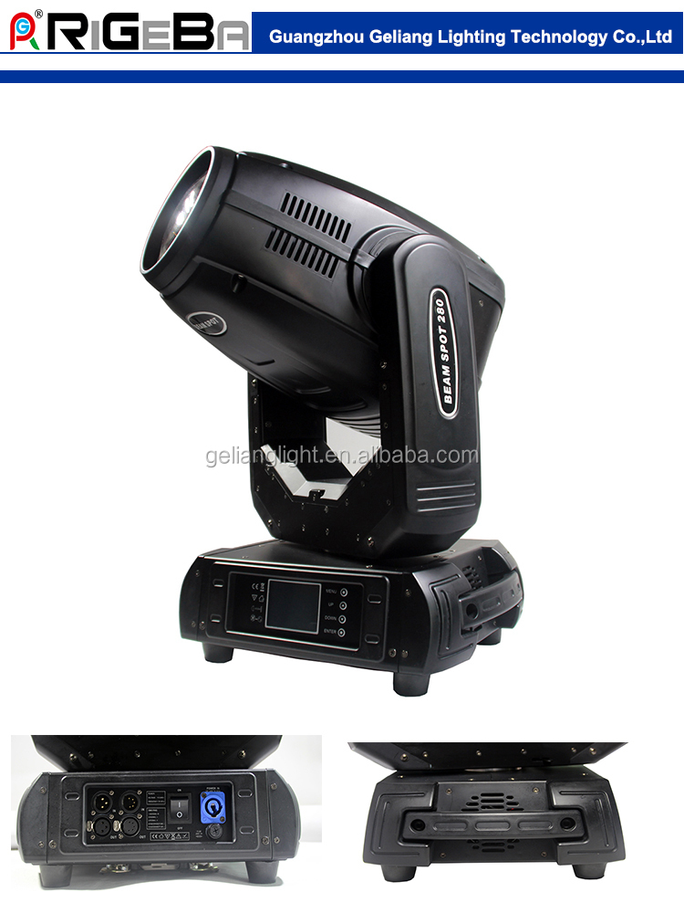 hot selling 280W high power Beam spot wash 3 in 1 zoom stage Light Moving Head Light