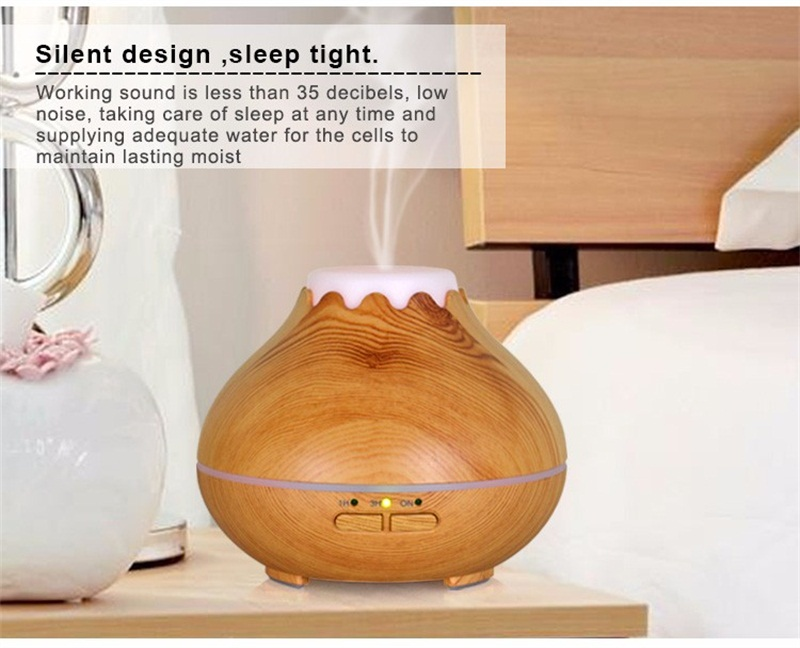 Portable Aromatherapy Essential Oil Diffuser 400ml Wood Ultrasonic Nebulizer Manufacturer in China