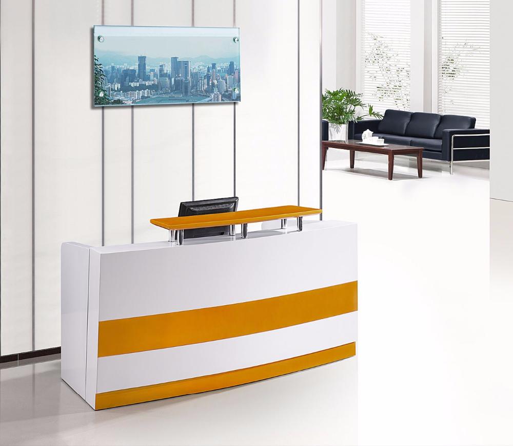 Modern White Curved Reception Desk Front Desk On Sale