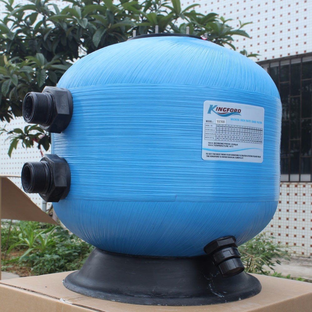 Blue Color Fiberglass Quartz Sand Filter For Pool
