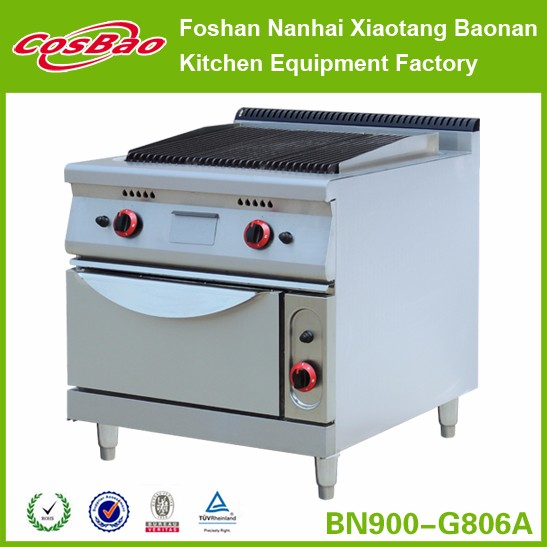 Restaurant Kitchen Equipment Combination Heavy Duty Gas Range With 4 Burners
