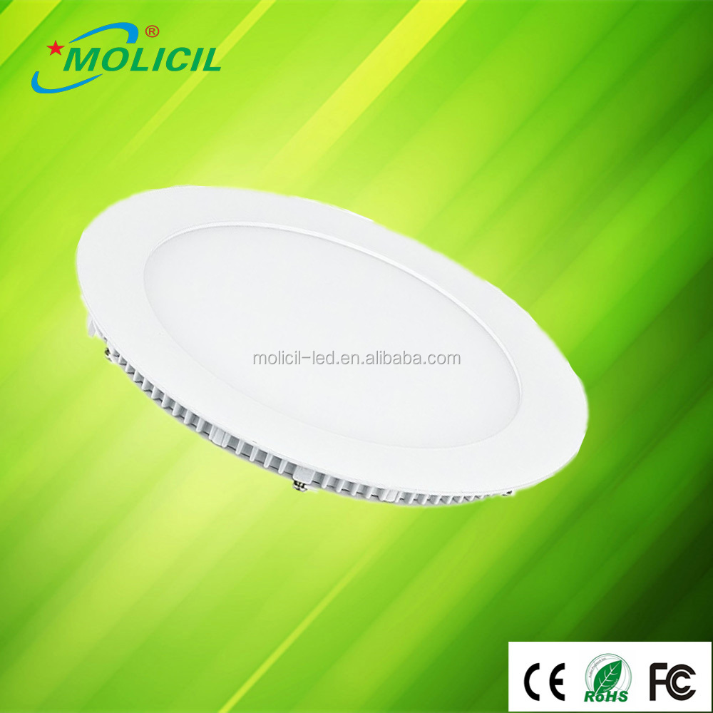 12W LED Recessed Ceiling Lamp Round Panel Down White Lamp W/ Driver