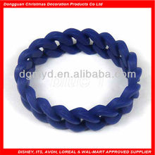 Promotional silicone 18 links twist glass bangles