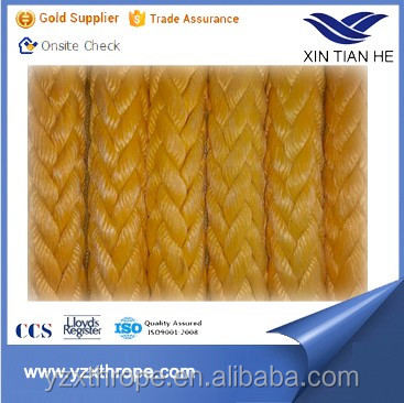 Colorful braided marine 12 strand 6mm UHMWPE ropes breaking strength High