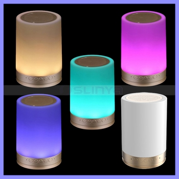 Round Smart Touch Wireless Emotional Mood LED Warm Light RGB Bluetooth Speaker