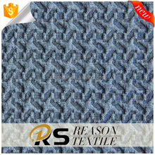 2017 new design polyester rayon Jacquard knitting fabric quilted fabric