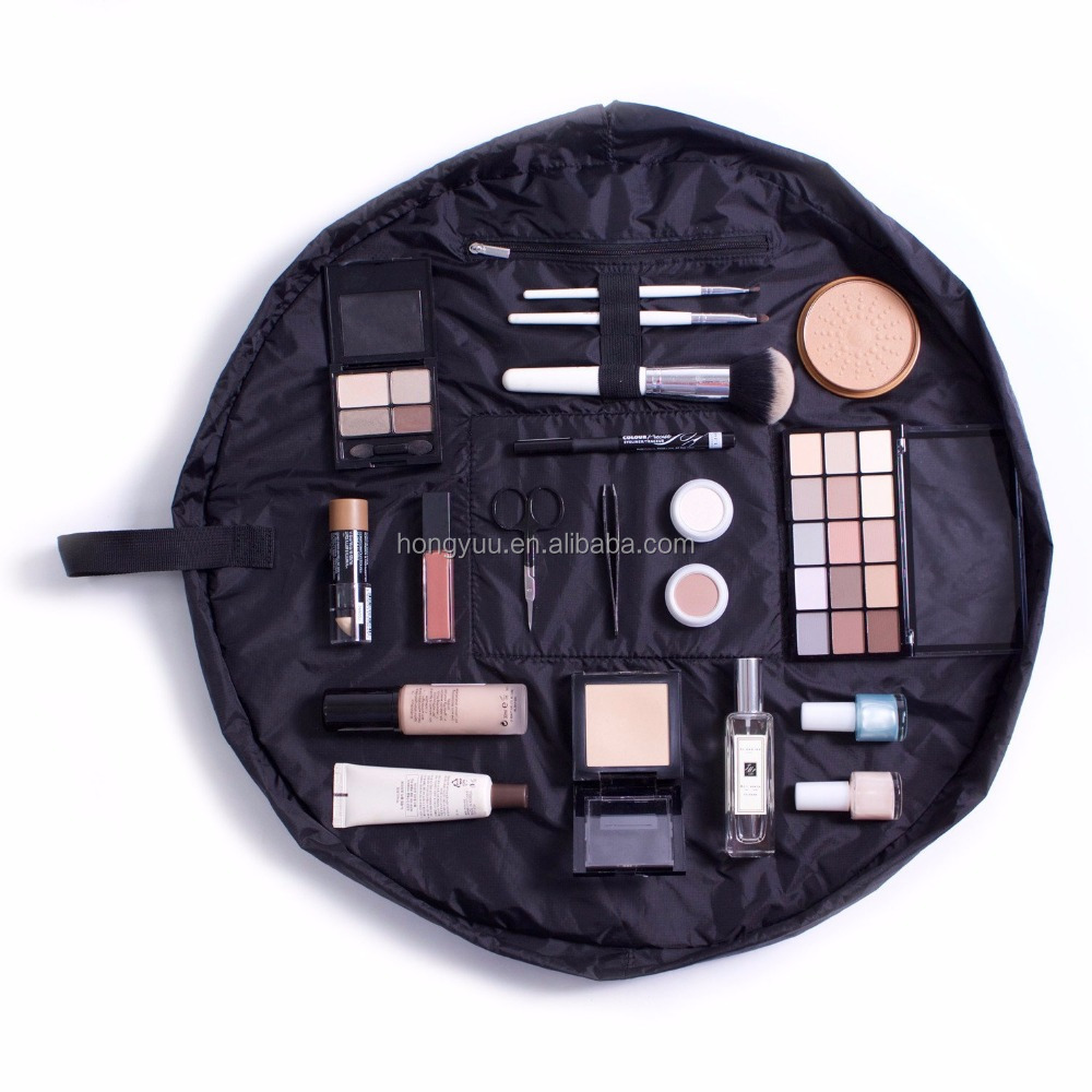 Make Up Organizer Bag | Lay Flat Travel Cosmetic Toiletry Case