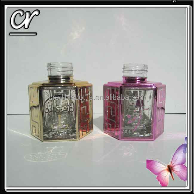 50ml hexagon Perfume Bottle, Deep Processing Glass Bottle, Cosmetic Bottle