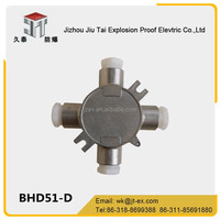 BHD51-D JiuTai stainless steel explosion proof wiring box/junction box/terminal box be used in explosive atmospheres