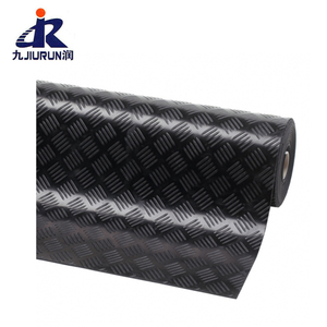 Wholesale Anti Slide Black Ribbed Corrugated Driveway Rubber Mats