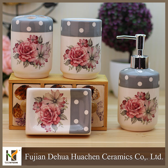 2015 new EO-friendly toothbrush holder bathroom set soap dispenser